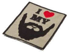 Deploy I love my beard Patch
