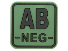 JTG Bloodtype Square Rubber Patch AB neg